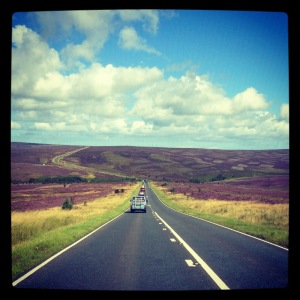 H Driving over the Moors