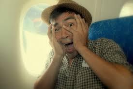scared plane passenger