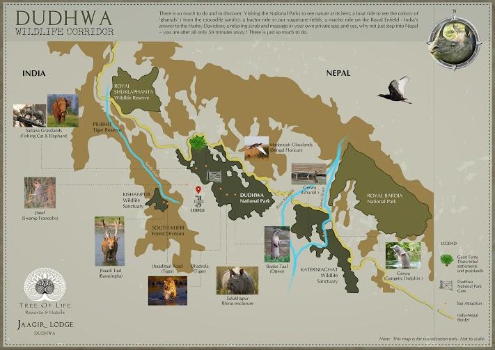 Map - Dudhwa Wildlife Corridor