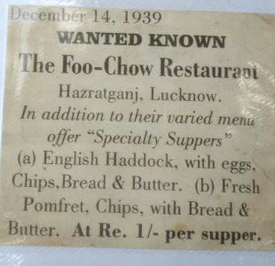 Lucknow What the Brits were eating